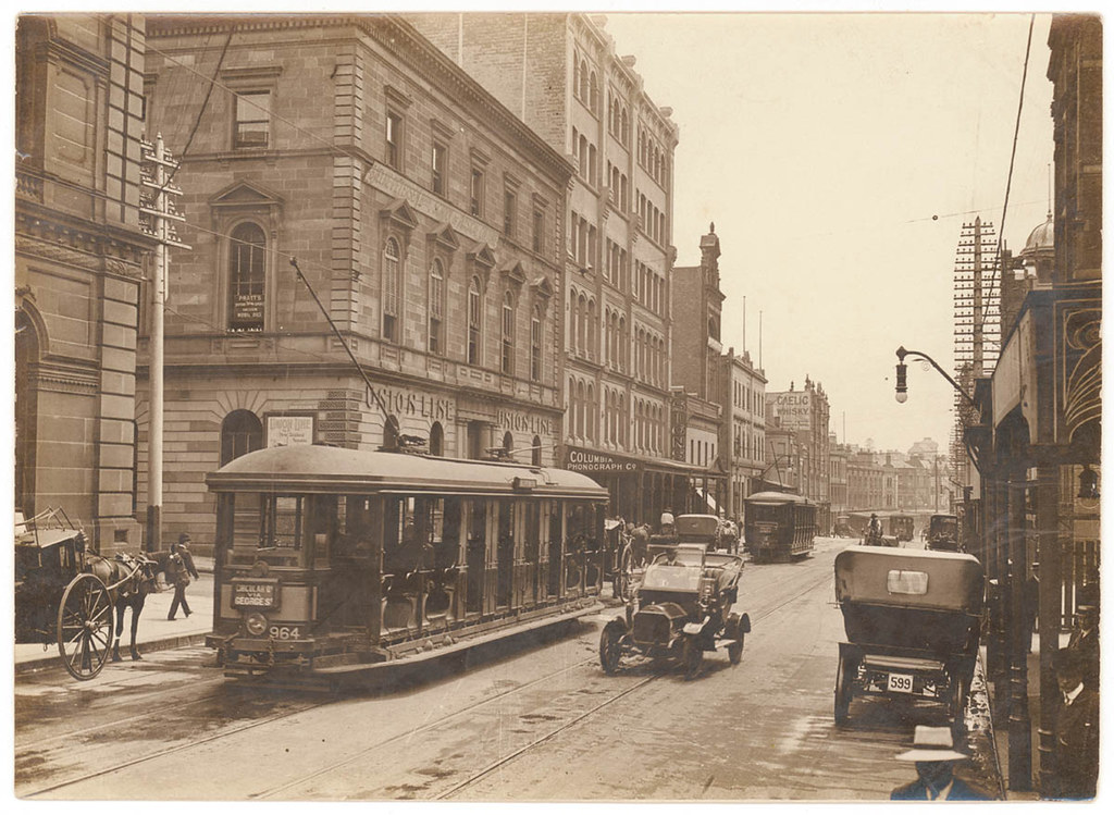 Ford Union City >> [Looking north along George Street (with tram, T-model For…   Flickr