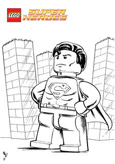 Lego Superman Free Colouring In For All Lego Super Hero