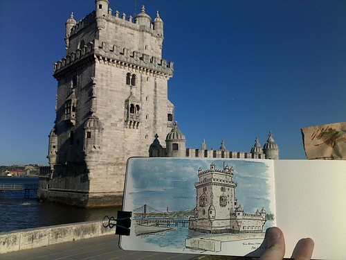 torre belem sketch | by petescully
