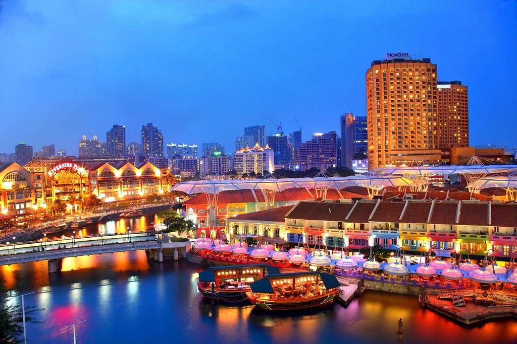 Clark Quay Blue Hour Clark Quay Location Singapore