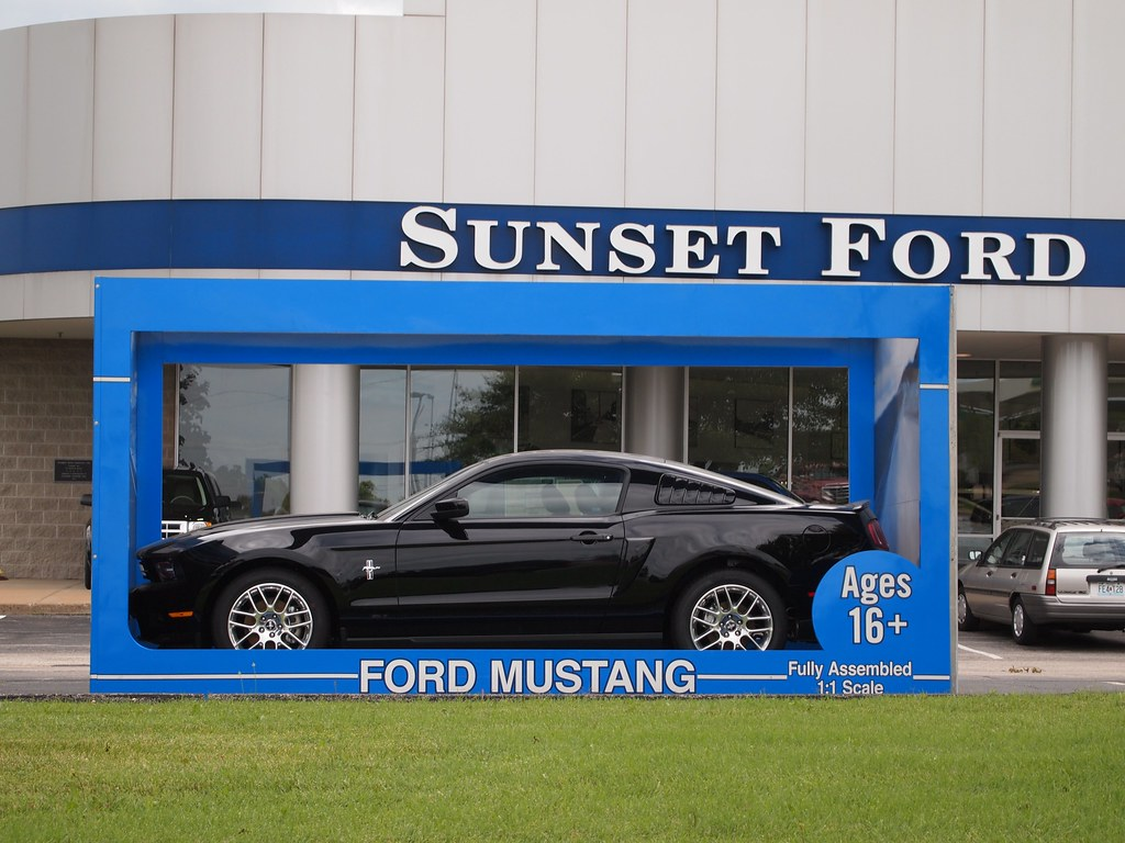 black 2011 ford mustang in box at sunset ford st louis flickr. Black Bedroom Furniture Sets. Home Design Ideas