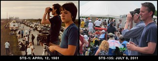 Father and Son: STS-1 and STS-135 | by arockalypse