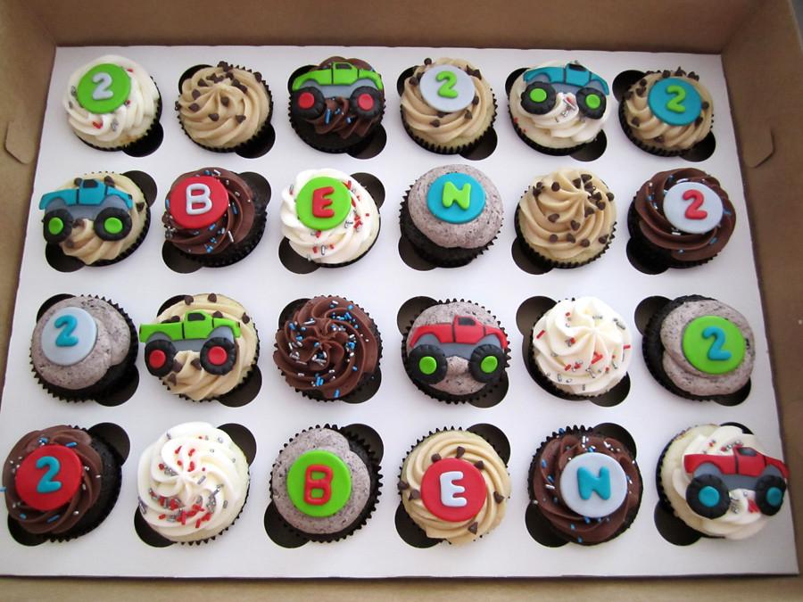 Monster Truck Birthday Cupcakes Mindy Bortz Flickr