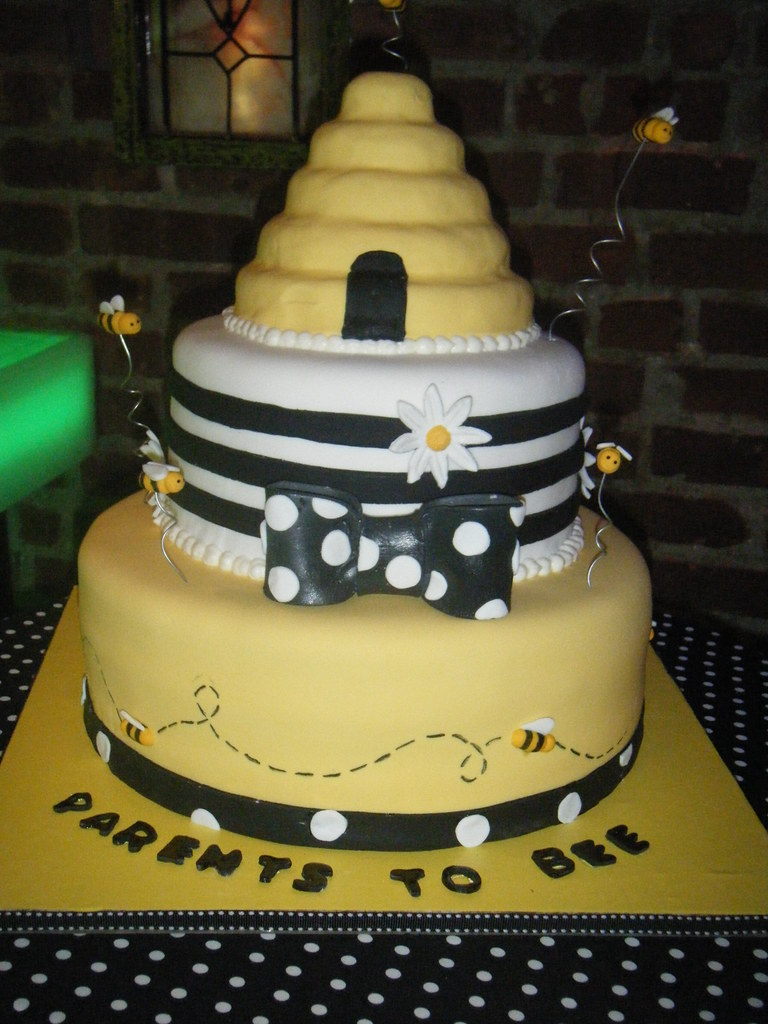 Bumble Bee Themed Baby Shower Cake