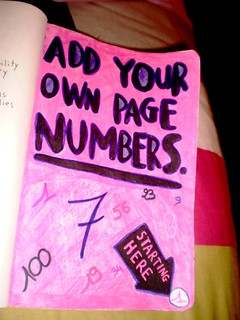 Add your own page numbers. | by ChristyOnTheWall