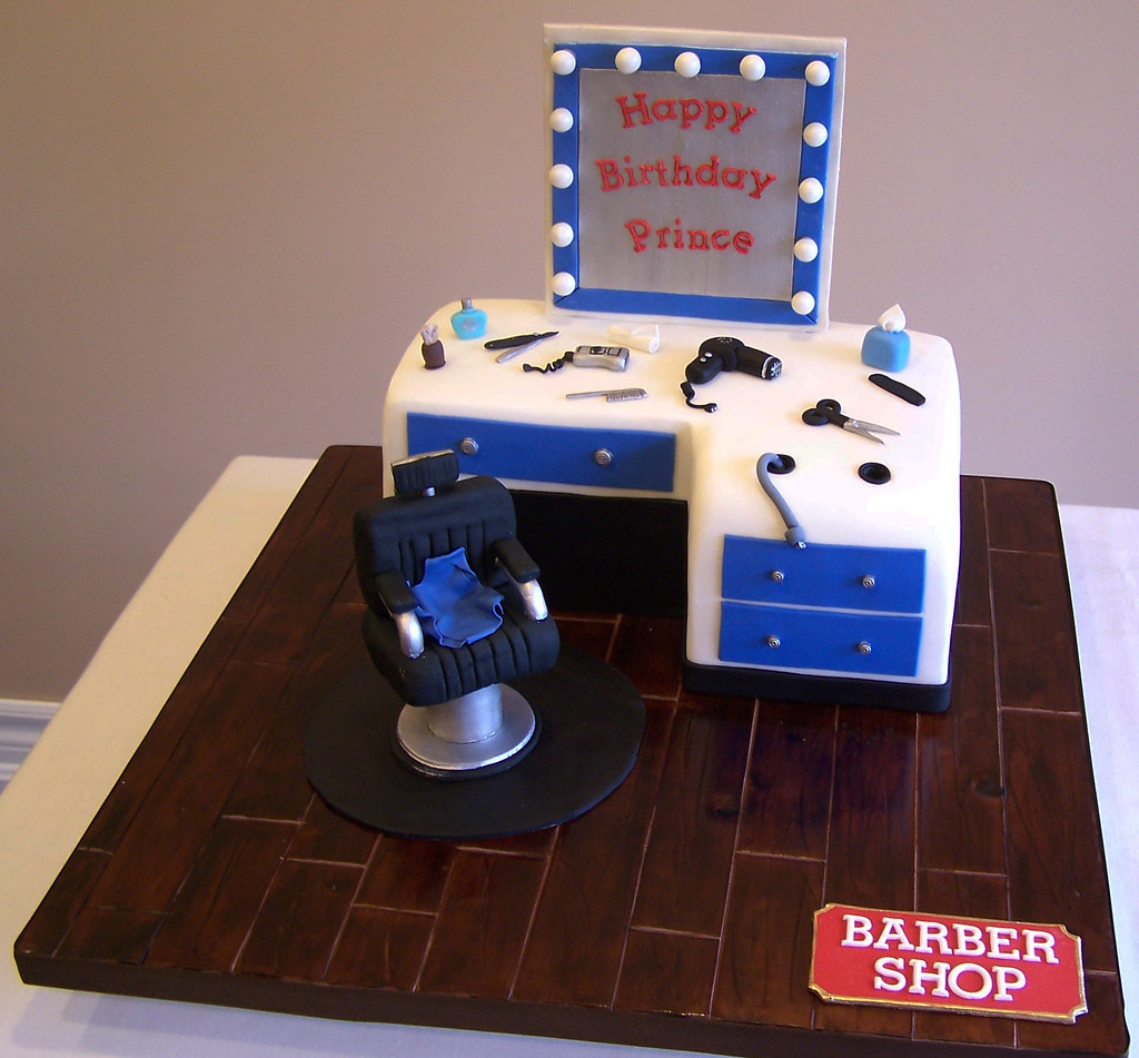 Barber Shop Cake My Client Ordered This Birthday Cake As