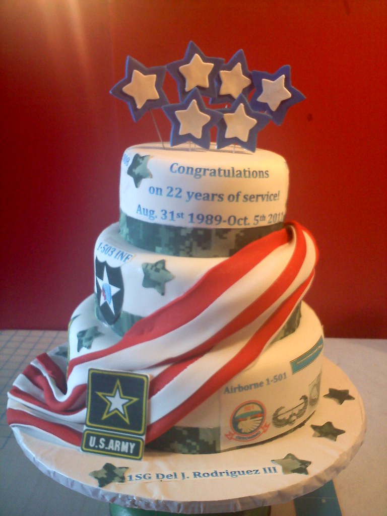 Army Retirement Cake Julie Coffman Flickr