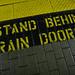 Stand Behind Train Doors  /  West Coast Express in Poco