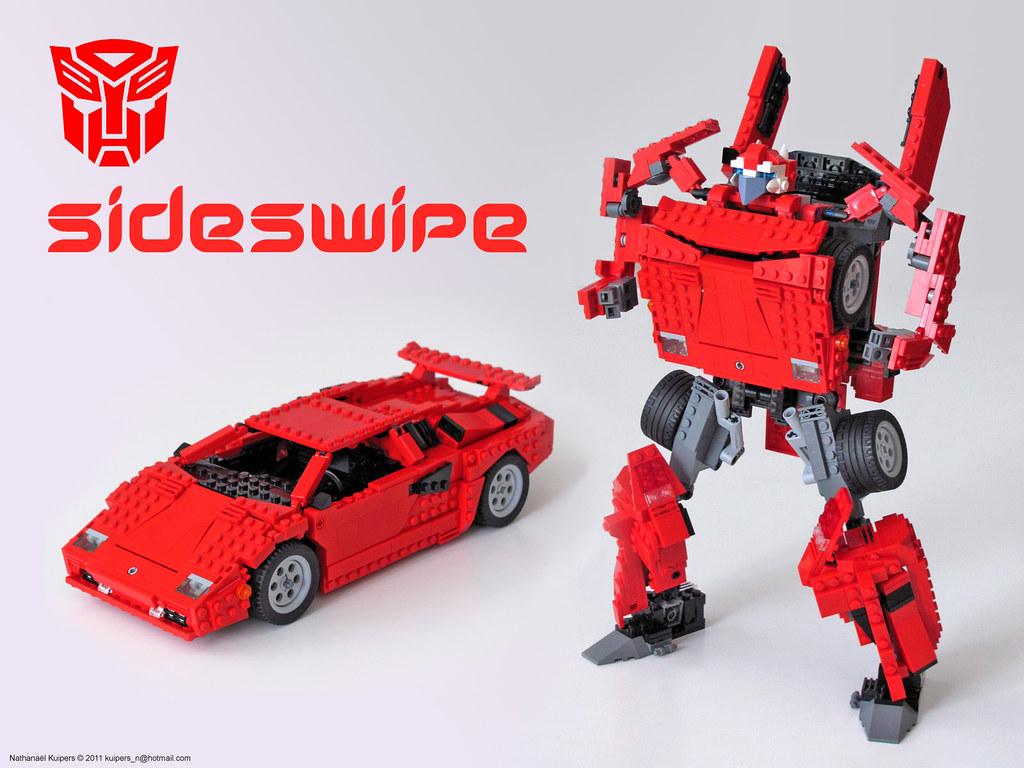 Sideswipe Transformer A Rendition With Lego Bricks Of