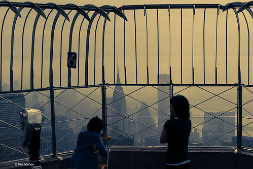 atop the Empire State building | by Phil Marion