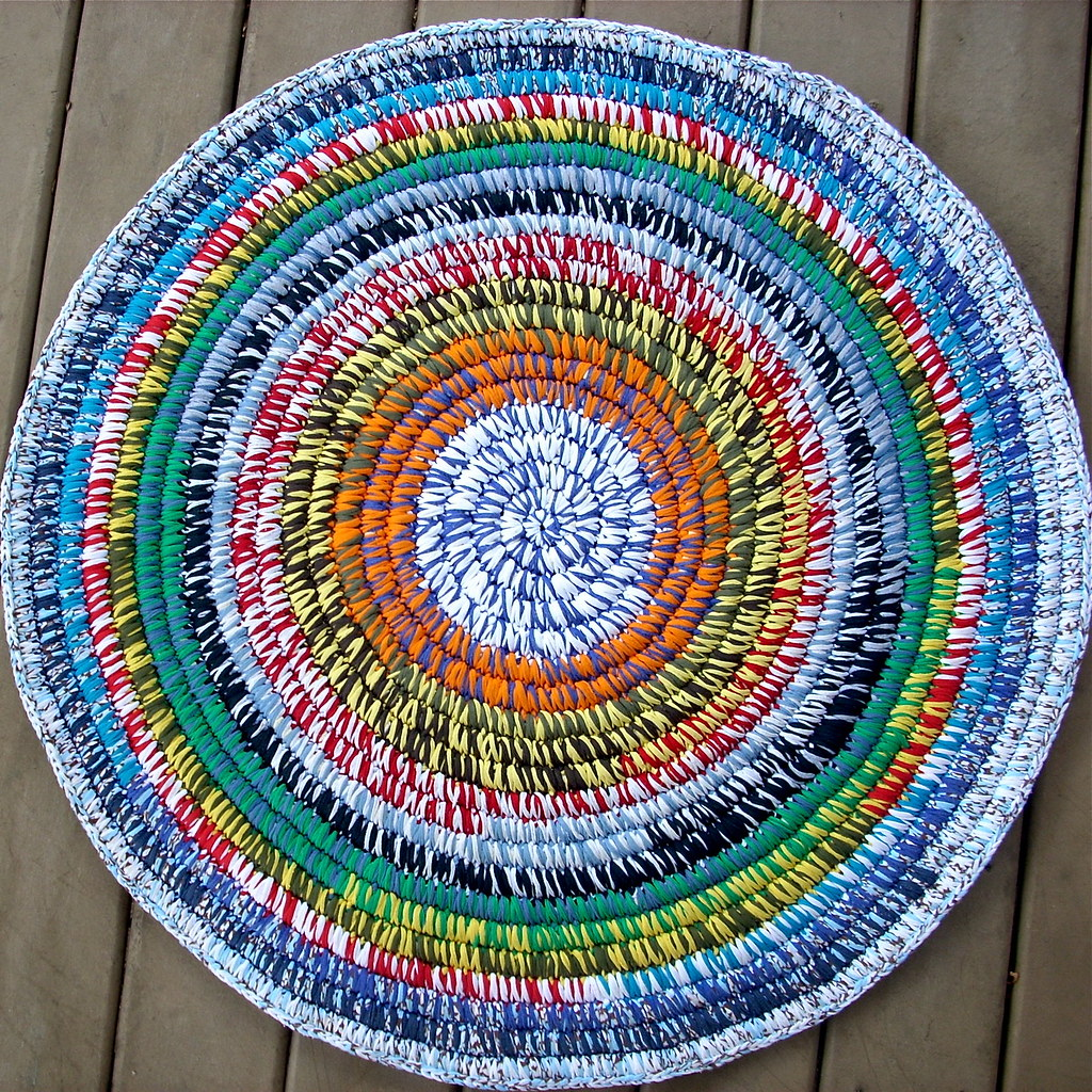 Coiled T Shirt Yarn Rug This Rug Was Made Of Clean Used