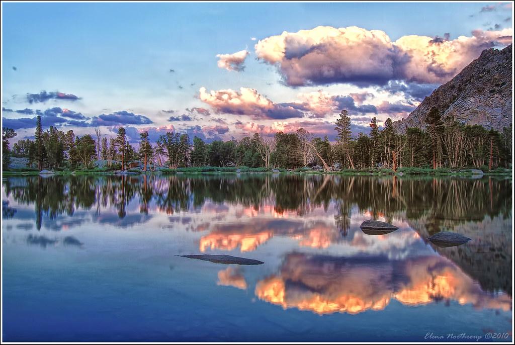 Flower Lake High California Sierra View Large On Black