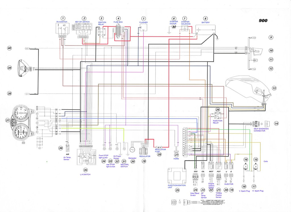2000 01 ducati monster 900 i e electrical wiring diagram flickr rh flickr com ducati panigale wiring diagram ducati st2 wiring diagram