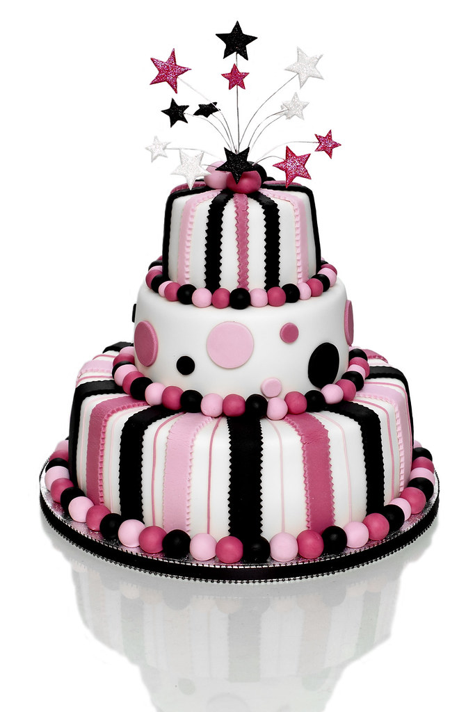 Vanilla White Choc Birthday Cake