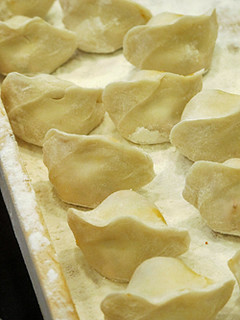 uncooked korean dumplings | by David Lebovitz