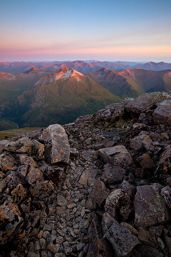 Sun-capped peaks behind Ben Nevis | by James_Appleton