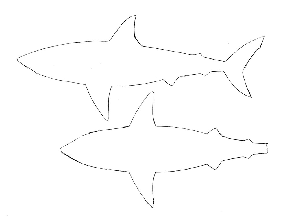 55  Shark Shape Templates, Crafts & Colouring Pages | Free ...