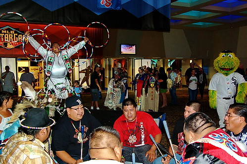 2011 MLB All-Star Game Pre-Game reception - Native American dancing and Blue Thunder Drum circle | by Al_HikesAZ