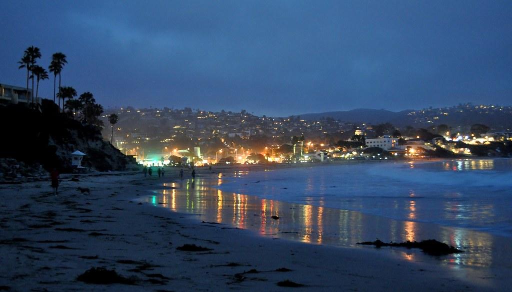 city lights in laguna beach headed to the beach for a sun flickr