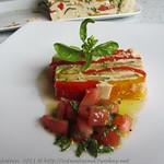 Weißes Gemüsegelee mit Basilikumvinaigrette
