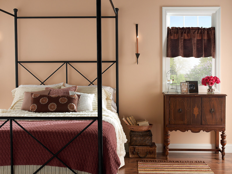 Country bedroom paint - Country Bedroom Walls Peach Bud 240e 2 Trim Frost W F