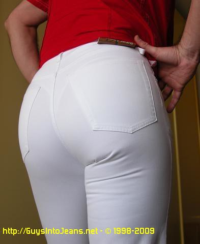 Tight white jeans pics