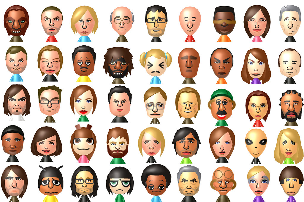 Mii Montage Here S A Montage Of 45 Miis I Made On The