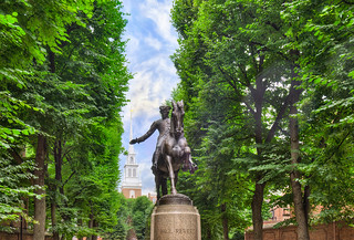 Paul Revere's Monument with Old North Church - Boston | by Mister Joe