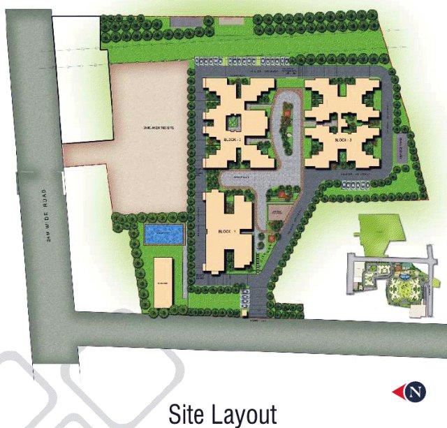 Layout Plan Of Sobha Garnet 3 Bhk 4 Bhk Flats At Kondhwa