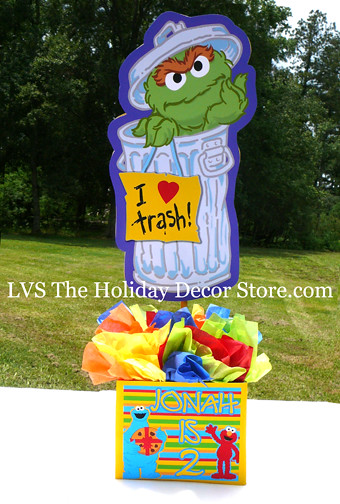 Sesame Street Trash Can Character Image Oscar The Grouch Slimey At Place P9zx8