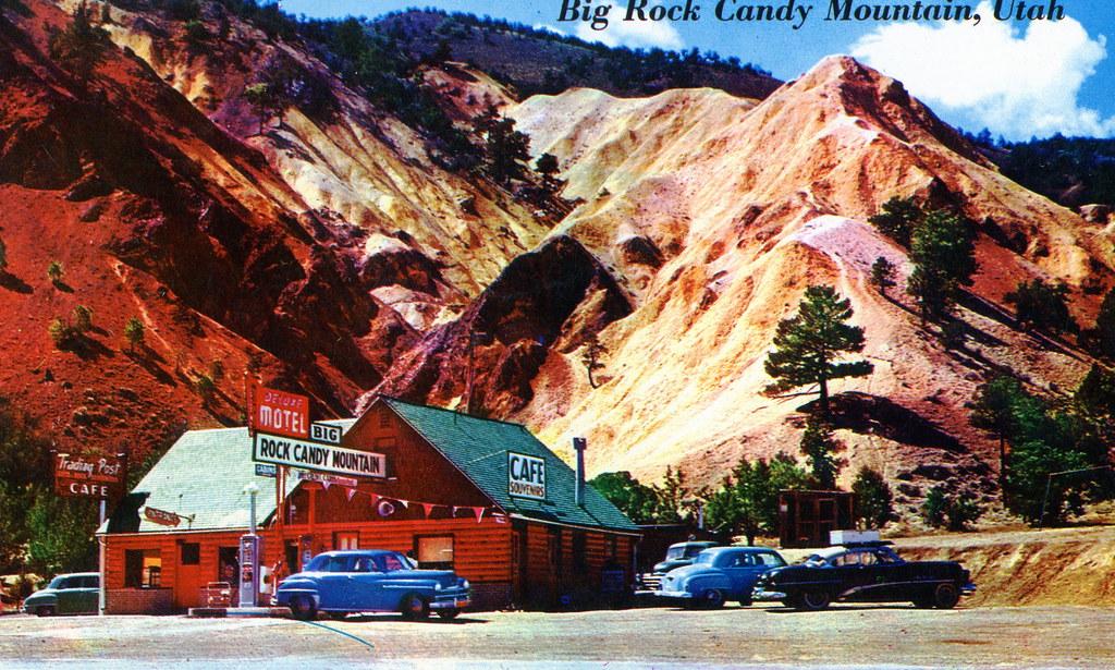 Postcard Big Rock Candy Mountain Utah 1950 S On The Back