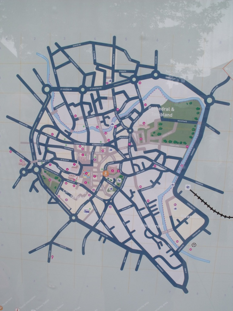 castle meadow norwich map of the city centre in
