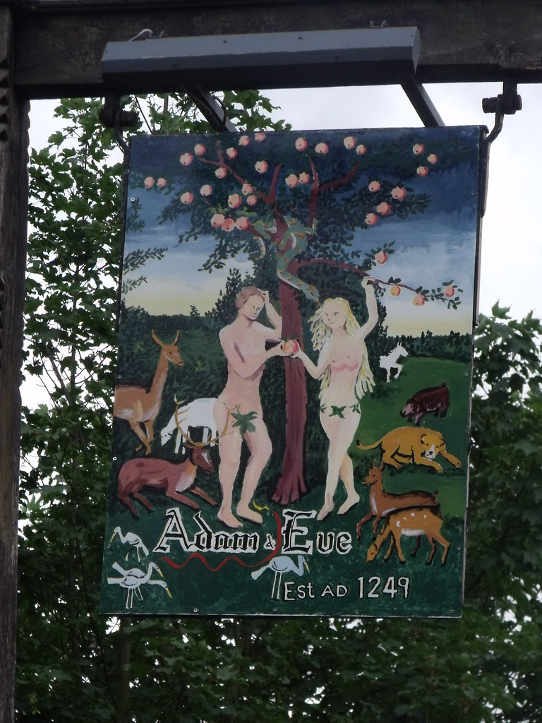 Adam And Eve Bishop Gate Norwich Pub Sign Buildings