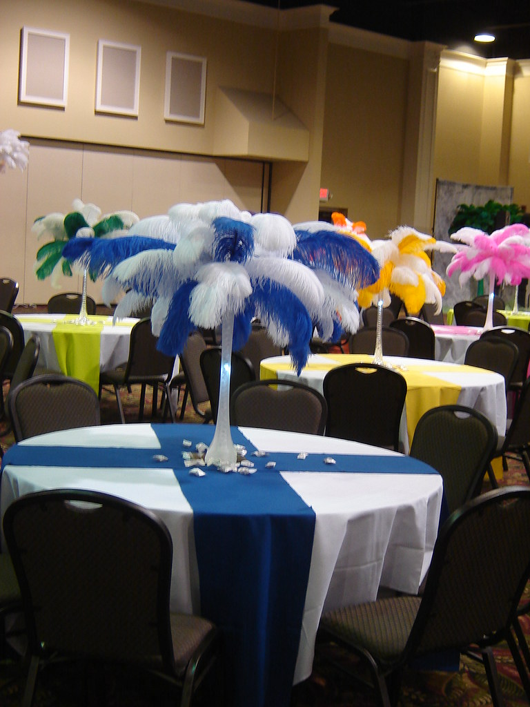 Banquet decorations set up florence center