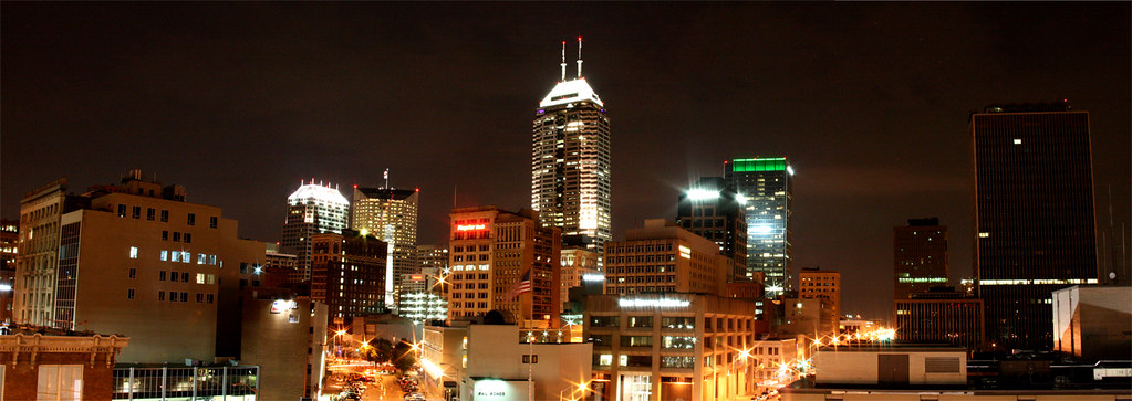 indianapolis indiana skyline this panorama is looking at i flickr