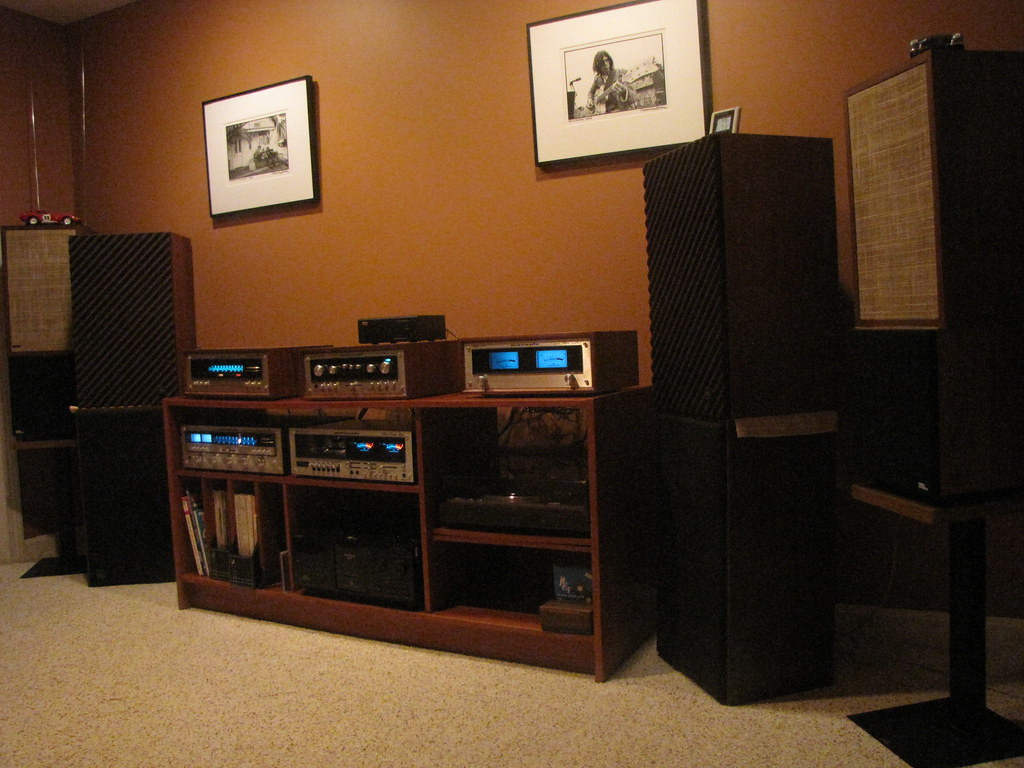 Vintage Marantz Stereo Set Up Yamaha Yp D4 Turntable