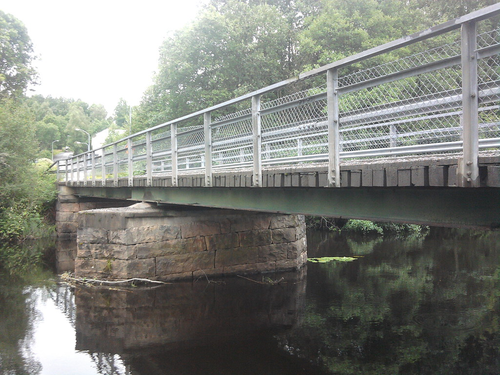 Small Steel Beam Bridge With Wooden Deck This Is A Small