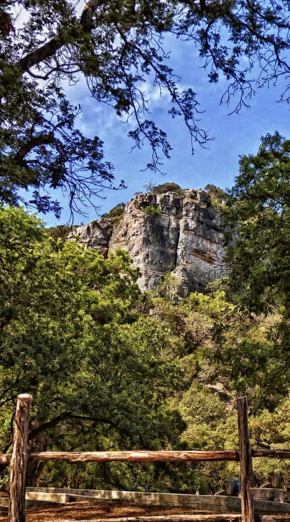 The Towering Seven Bluff At The Third Crossing Of The Frio