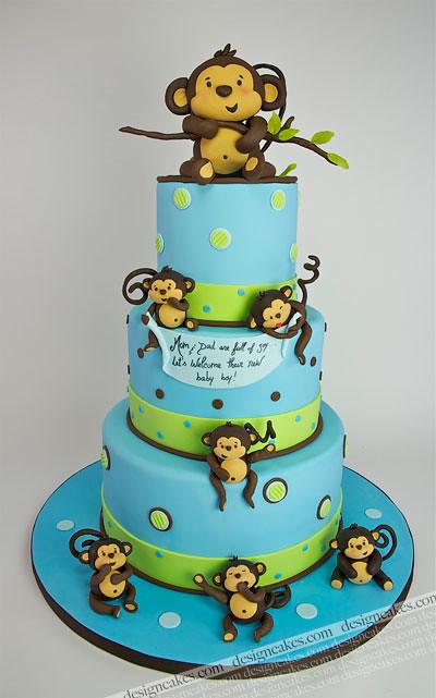 Baby monkey cake christine pereira flickr - Baby shower cakes monkey theme ...
