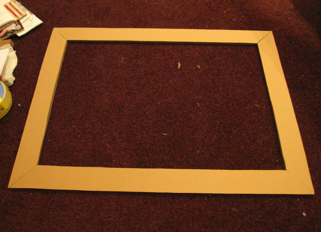 DIY Cardboard Frame - in the process | Sarah Mouchot | Flickr