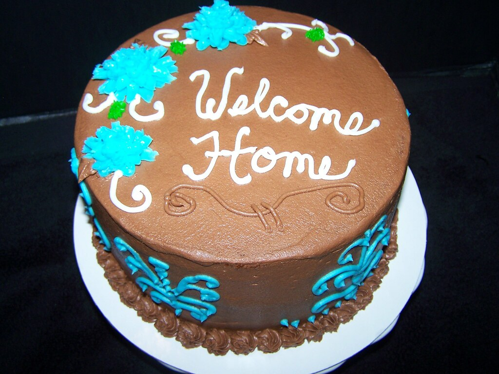 Welcome Home Cake | Yellow Butter Cake With Chocolate Fudge U2026 | Flickr