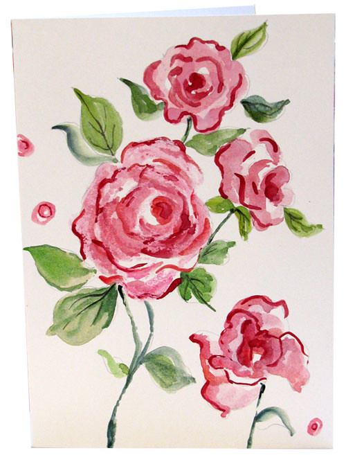 Hand painted rose watercolor greeting cards pink roses not flickr hand painted rose watercolor greeting cards pink roses notecards by botanical watercolor hand painted greeting m4hsunfo