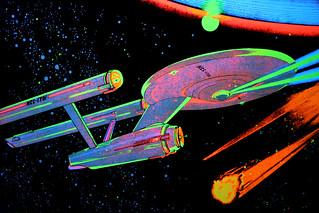 Black Light Star Trek Poster