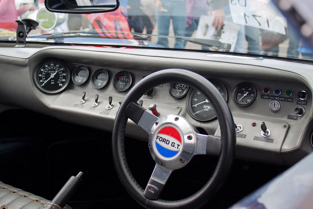 GT40 dashboard | Ford GT40 dashboard. Spartan! I love the ...