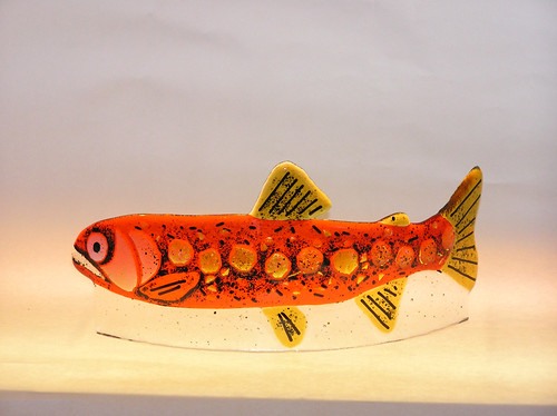 TroutOrange | by Northern Art Glass