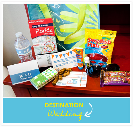 we put together a wedding welcome bag! | for links, and