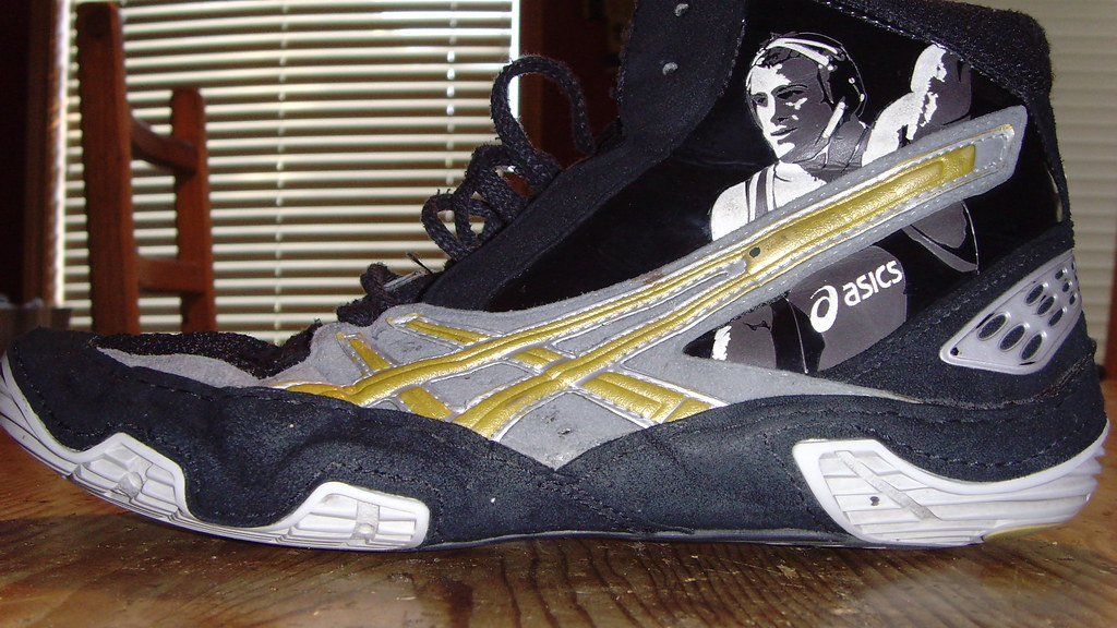 Cael sanderson wrestling shoes