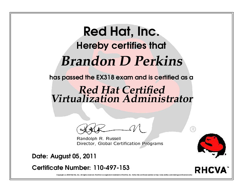 Red Hat Certified Virtualization Administrator | Red Hat, In… | Flickr