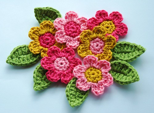 Crochet Flowers and Leaves | by AnnieDesign