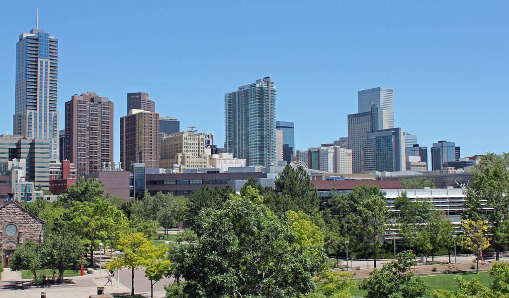 Denver Skyline August 2011 Denver Gets Over 300 Days